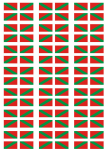 Basque Flag Stickers - 21 per sheet